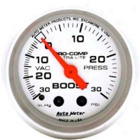 Auto Meter Ultra-lite 2-1/16'' Boost/vac Mechanical Gauge