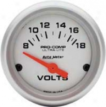 Auto Meter Ultra-lite 2-1/16'' Electrical Voltmeter