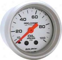 Auto Meter Ultra-lite 2 1/16 Inch Mechanical Oil Pressurw Gauge