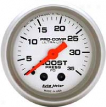 Auto Meter Ultra-lite 2-1/16'' Mechanical Boost Gauge