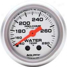 Auto Meter Ultra-lite 2-1/16'' Mechanical Water Temp. Gauge