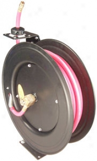 Auto-rewind Air Hose Reel With 1/2'' X 50' Air Hose