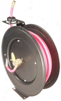 Auto-rewind Air Hose Reel With 3/8'' X 50' Air Hose