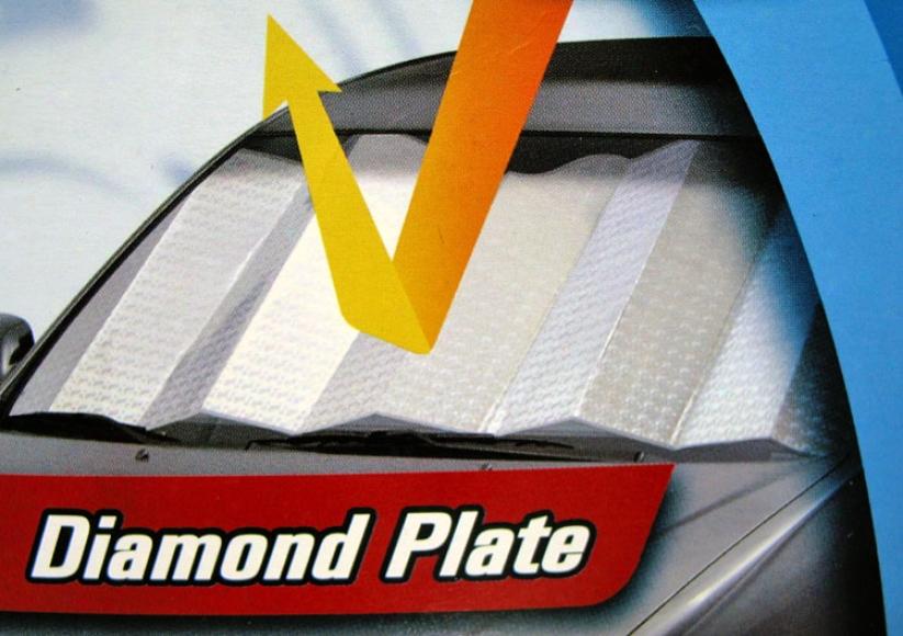 Auto-shade Reflective Diamond Plate Sunshade (jumbo Size)