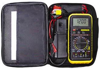 Automotive Digital Multimeter Kit With Inductive Rpm Pick-up And Soft Case
