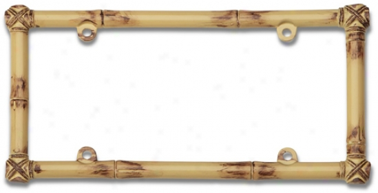 Bamboo License Plate Frame