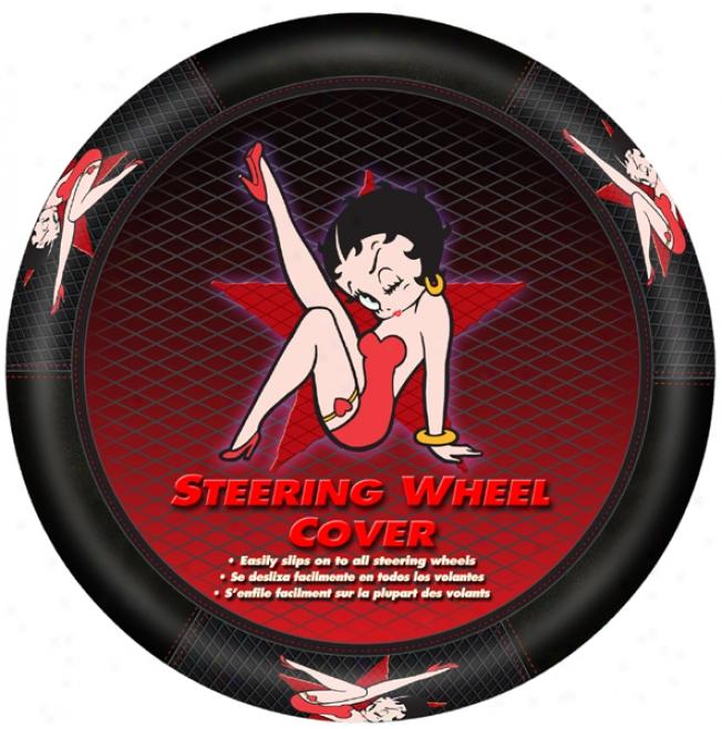 Betty Boop Star Steering Wheel Cover