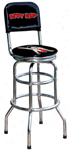 Betty Boop Swivel Back Rest Stool