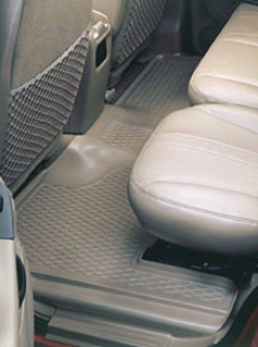 Black Armor Custom Molded Floor Guards For Second Seat