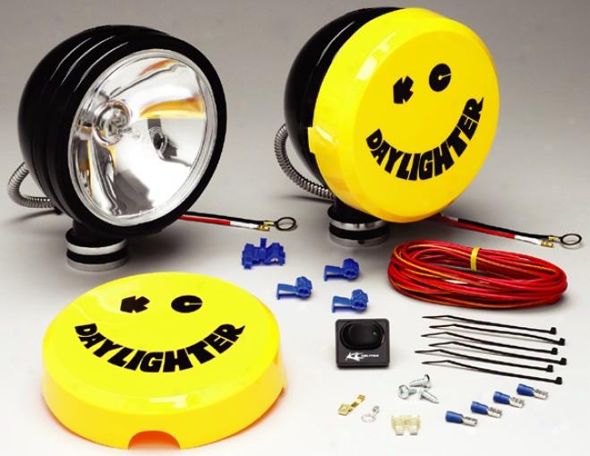 Dark Daylighter Silex Halogen Long Range Off-road Lights (wiring Kit Included)