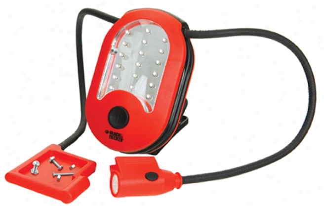 Black & Decker 18 Led Area Light With Task Illustration & Magnetic Tray