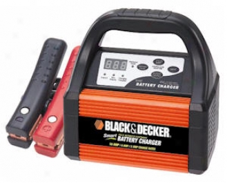 Black & Decker? 2/6/10 Amp 12-volt Smart Battery Charger