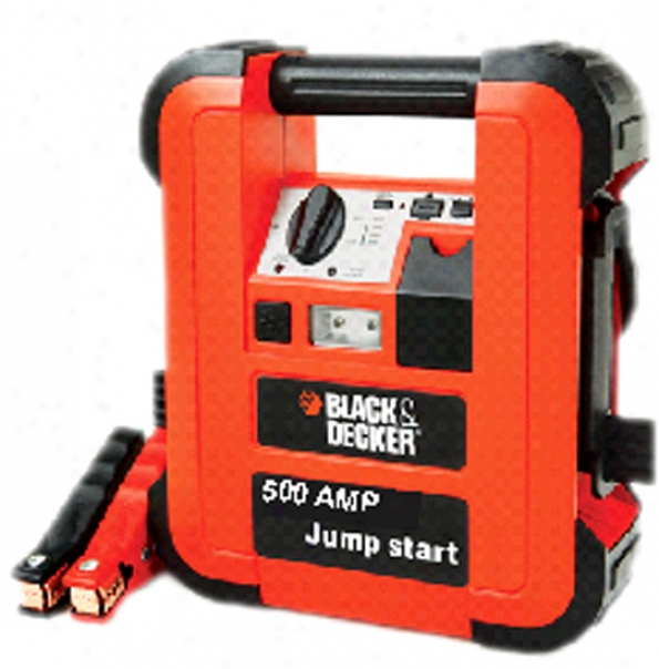Black & Decker 500 Amp Low-profilee Jump Starter .