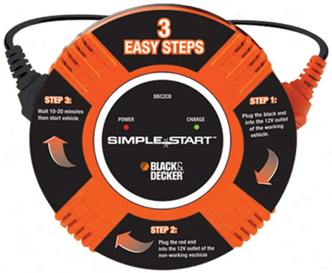 Black & Decker Simple Start? Vehicle-to-vheicle Battery Booster