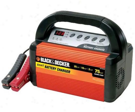 Black & Decker Smart Battery 75/25/10/2 Amp Battery Charger