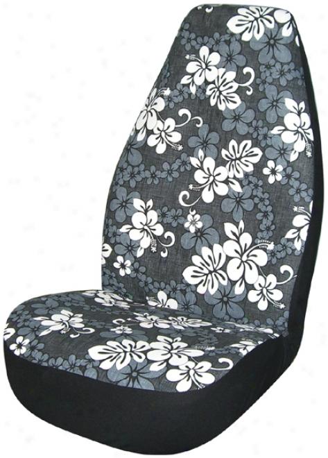 Black Hawaiian Print Universal Bucker Seat Conceal (pair)