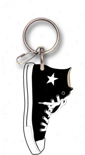 Black Hightop Sneaker Keychain