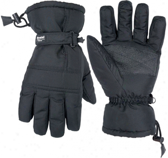 Black Nylon Ski Gloves (large)