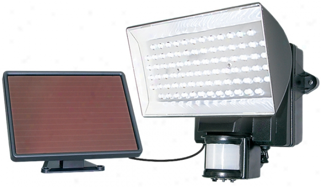 Black Solar-powered Motion-activated 80 Led Security Light