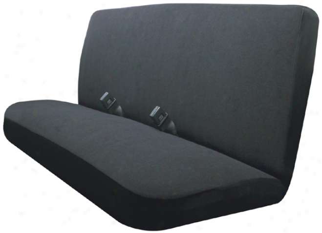 Black Terry Velour Bench Seat Cover