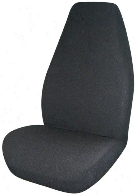 Black Terry Velour Universal Bucket Seat Cover (pair)