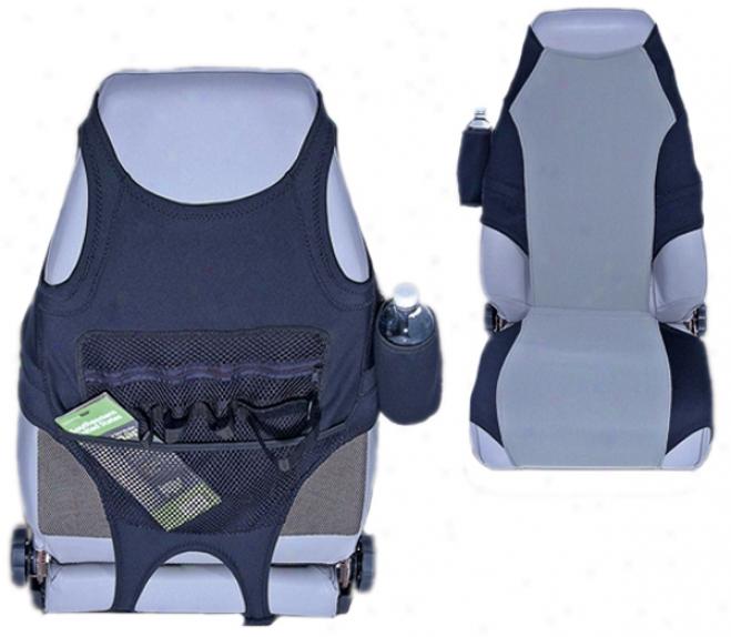 Biack/gray Neoprene Seat Protector