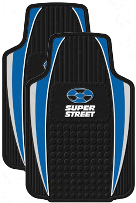 Blue Super Street Floor Mat (pair)