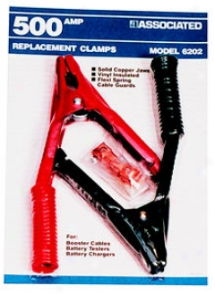 Booster Cable Clamps For Booster Cables (3,4,6 Gauge) - 500 Amp