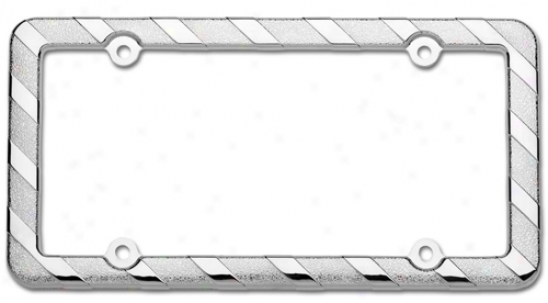 Brushed Metallic License Plate Frames
