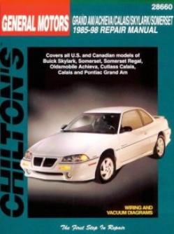 Buick Skylark/somerset & Oldsmobile Achieva/calais/grand Am (85-98) Chilton Of the hand