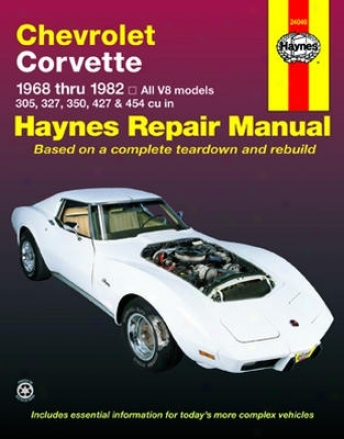 Chevrolet Corvette Haynes eRpair Manual (1968-1982)
