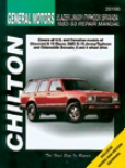 Chevy Blazer S-esries, Gmc S15 Jimmy/typhoon, Oldsmobile Bravada (1982-93) Chilton Manual