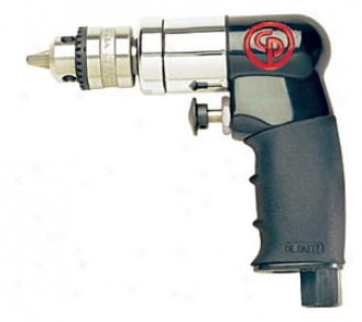 Chicago Pneumatic 1/4''_Reversible Air Drill - Compact