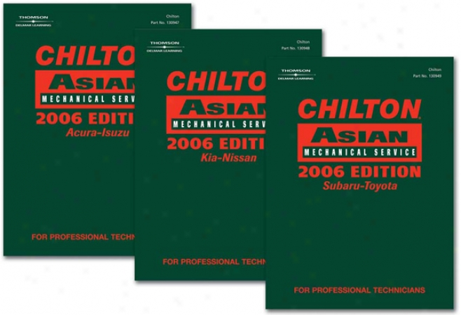 Chilton 2006 Asian Service Manual Set (vol 1, 2 & 3)