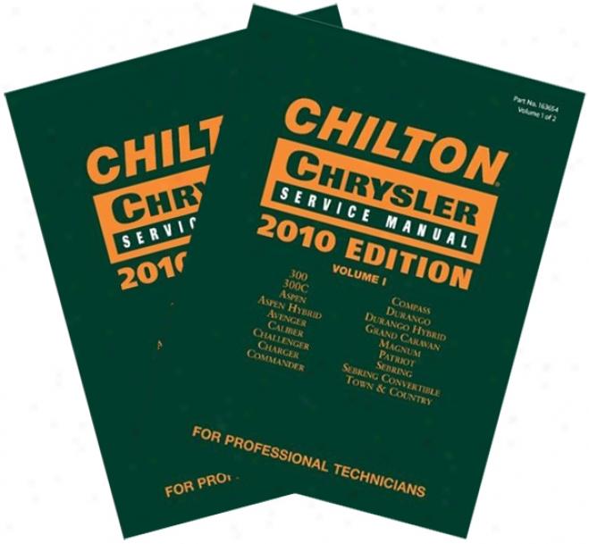 Chilton 2010 Chrysler Service Manul Sef (vol 1 & 2)