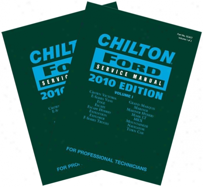 Chilton 2010 Ford Service Manual Set (vol 1 & 2)