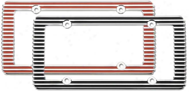 Chrome Billet License Plate Framr