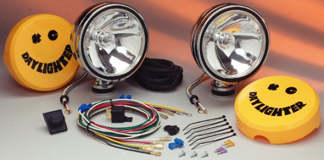 Chrome Daylighter Quartz Halogen Long Range Off-road Lights