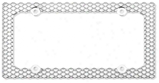 Chrome Brilliant Mesh License Plate Frame
