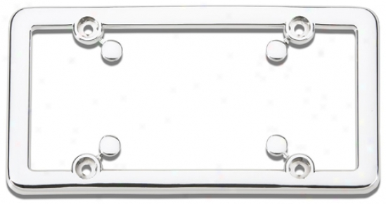 Chrome Plated, Plastic License Plate Frame