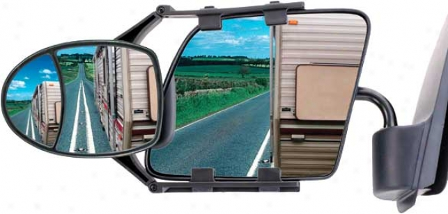 Cipa Dual-adjustable Clip-on Towing Mirror