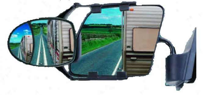 Cipa?s Dual-view Clip-on Towing Mirror