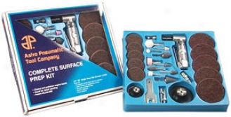 Complete Surface Prep Kit By the side of 90 Degree Angle Air Die Grinder