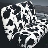 Cow Fur Universal Fit Front/rear Car Bench Seat Cover
