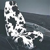 Cow Print Car Cover During Bucket Seats