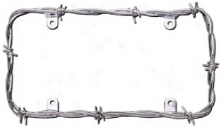 Cruiser Barbed Wire License Plate Skeleton