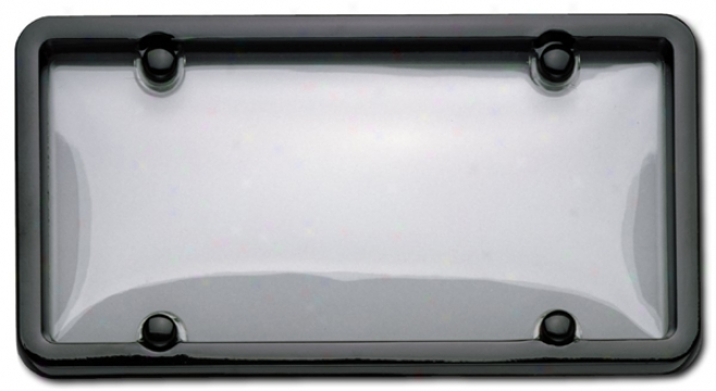 Cruiser Classic Black/clear Combo License Plate Frame Kit