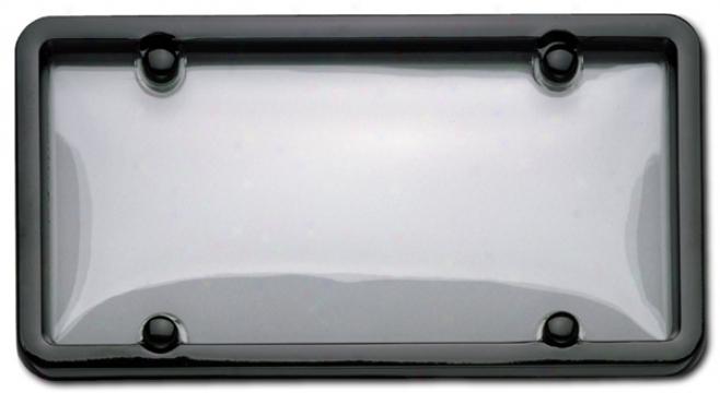 Cruiser Classic Black/clear Combo License Plate Frame Kit