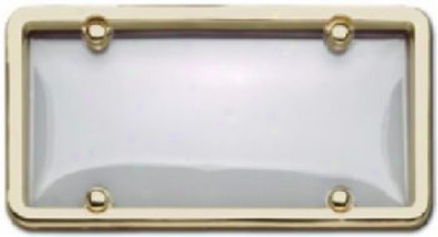 Cruiser Cladsic Brass/clear Combo License Plate Frame Kit