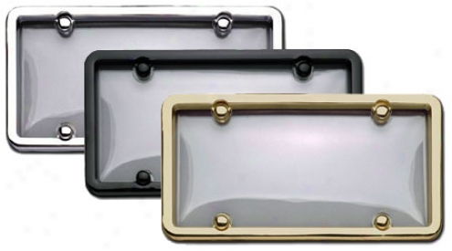 Cruiser Classic Chrome/clear Combo License Plate Frame Kit